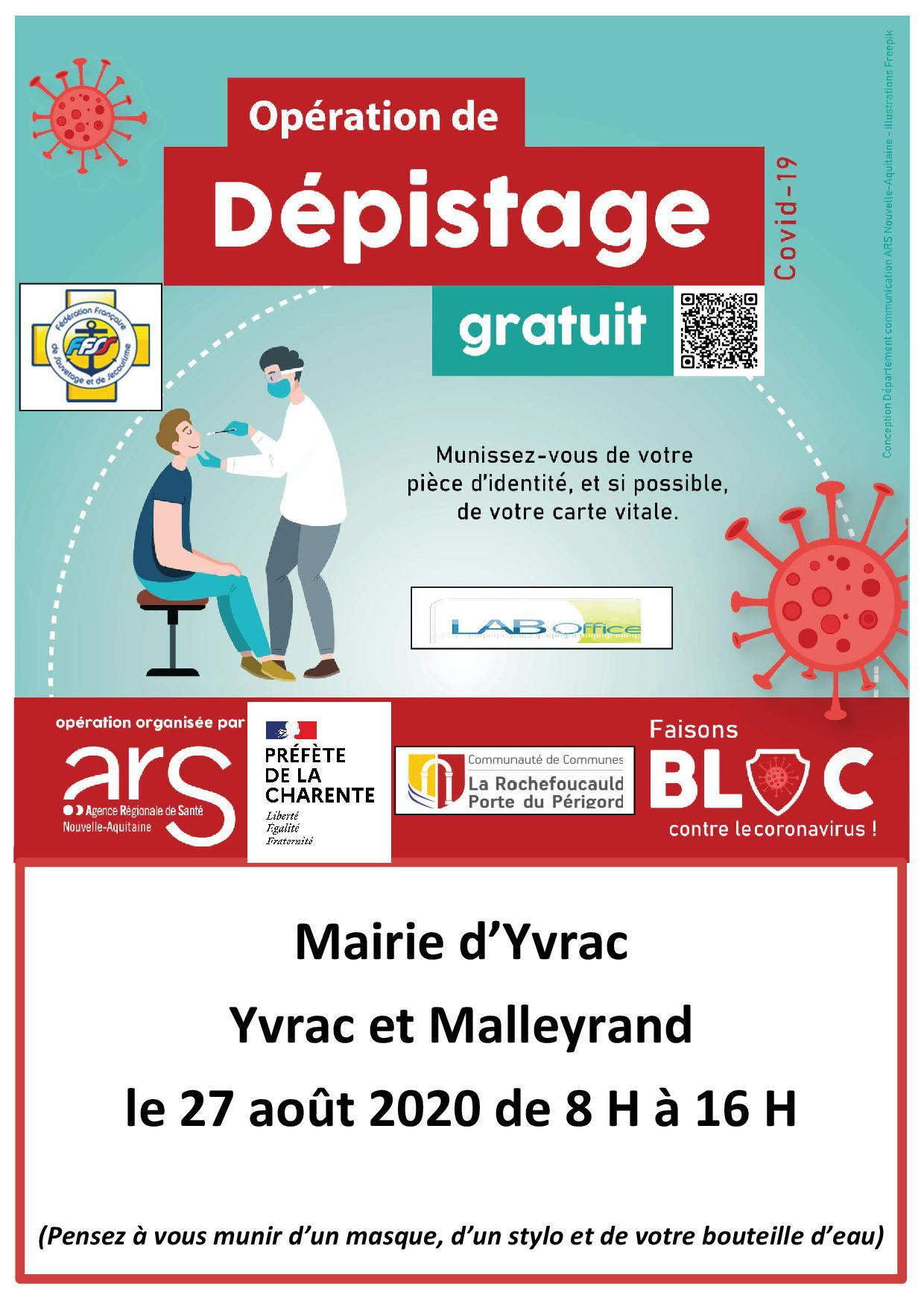 Affiche depistage covid