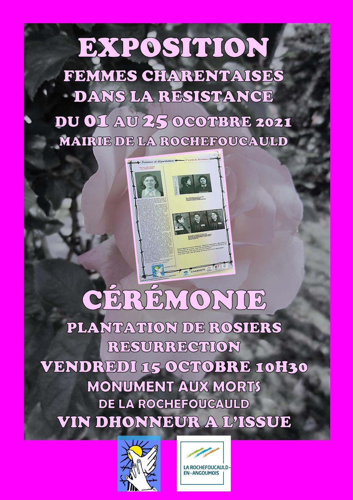 Expo femmes charentaises dans la resistance oct2021