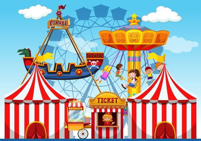 Fun fair raide background vector